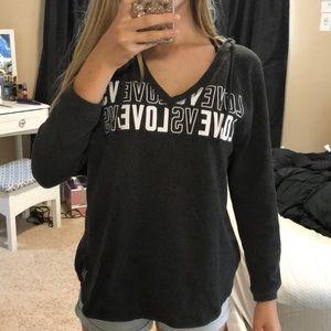 V-neck Victoria's Secret hoodie